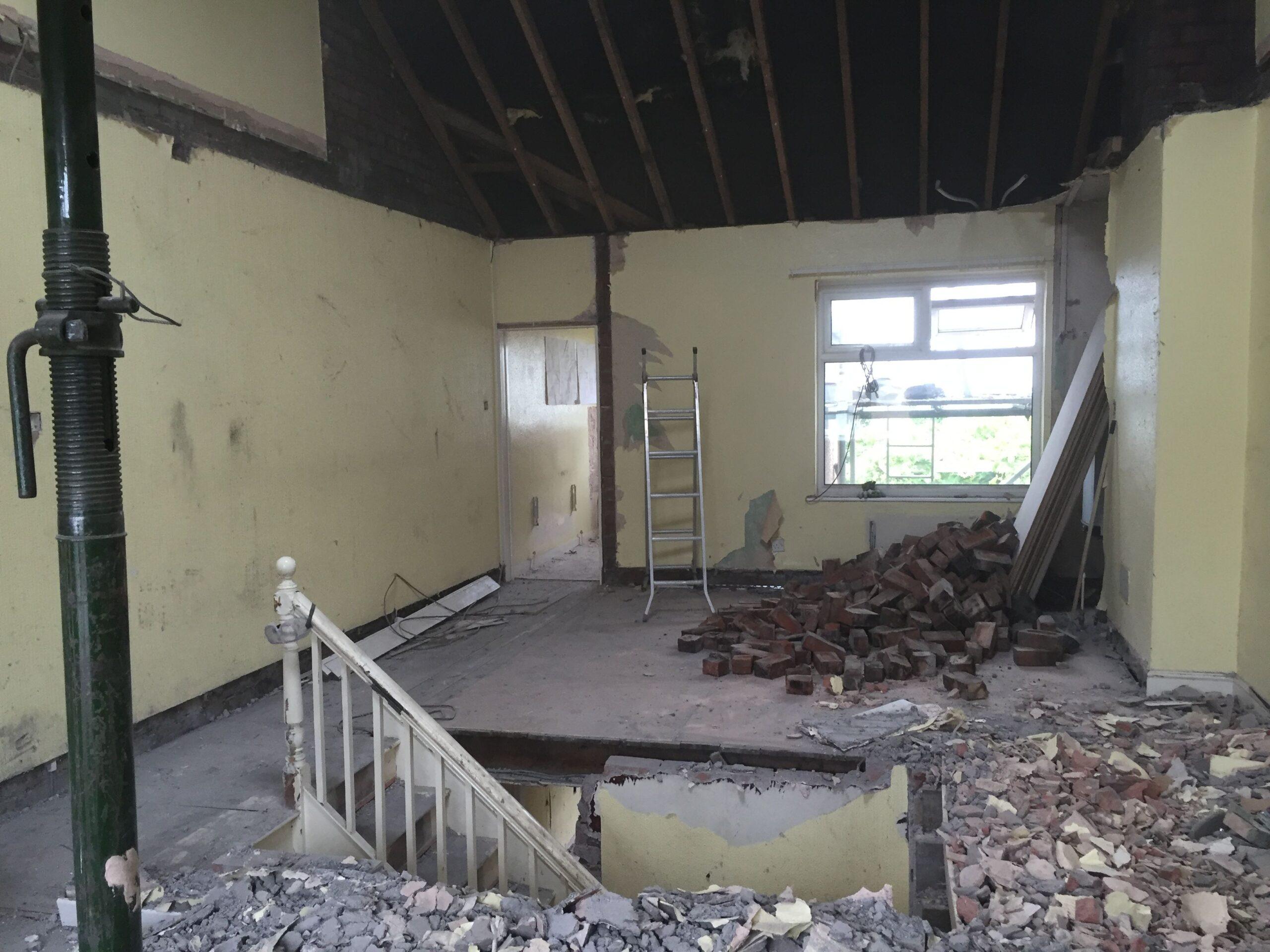 Dunkerry Road First Floor Landing Demolition Before 2