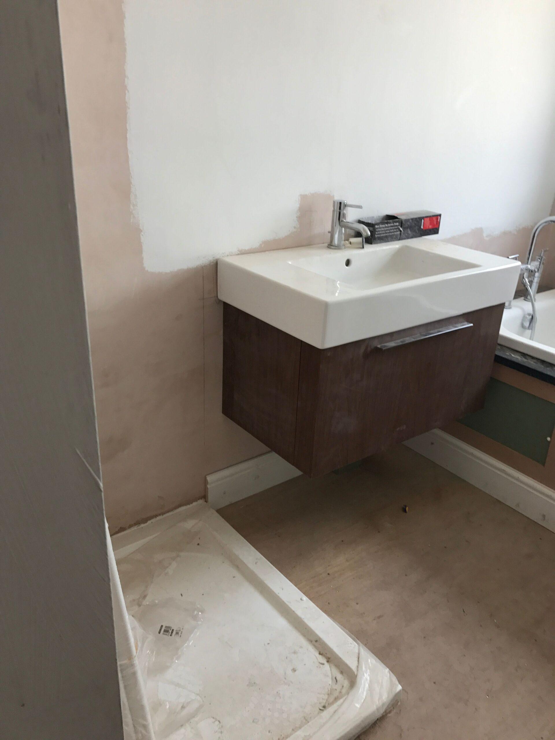 Dunkerry Road First Floor Bathroom Sink Before