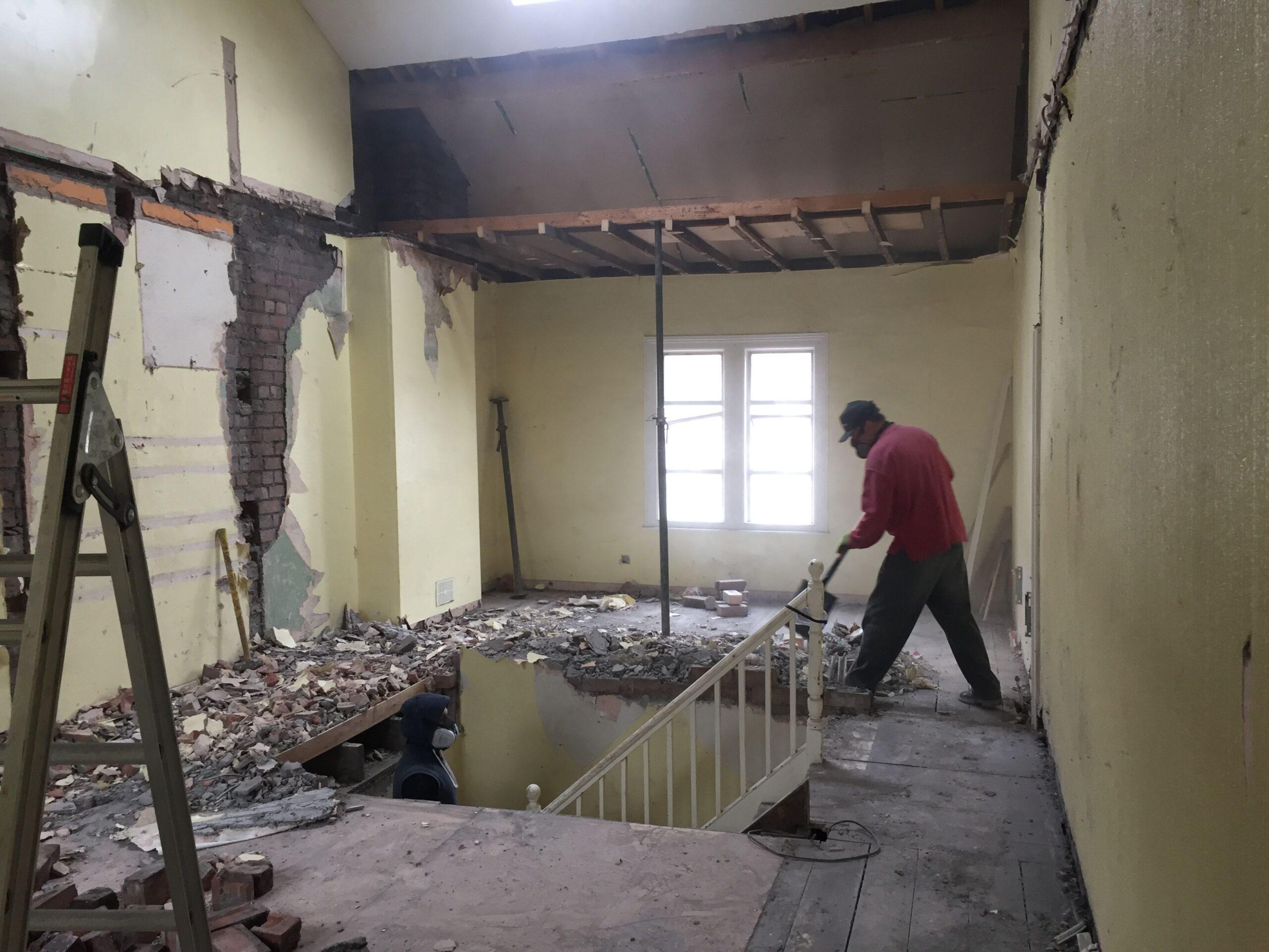Dunkerry Road First Floor Landing Demolition Before